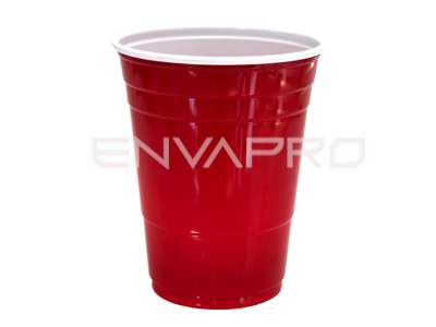 VASO TP16R PLÁSTICO PS ROJO INTERIOR BLANCO SOLOCUP 16oz 473ml