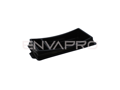 ENVASE RECTANGULAR SUSHI BASE NEGRA 150 x 80 x 20/25mm