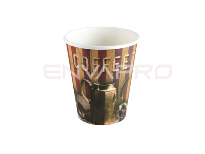 VASO CARTÓN DECORACION COFFE TIME 6oz 177ml