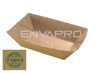 BARQUETA KRAFT COMPOSTABLE 100*62*40 mm