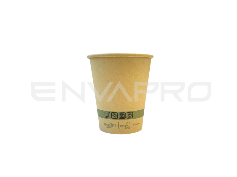 VASO CARTÓN KRAFT/KRAFT INTERIOR PLA-BIO 6oz 177ml