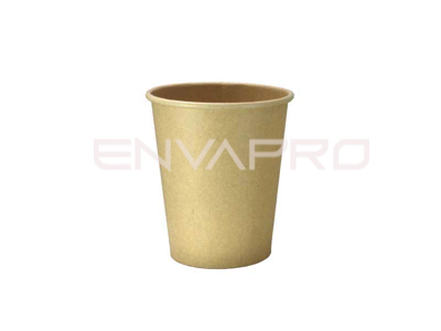 VASO CARTÓN KRAFT/KRAFT INTERIOR PLA-BIO 8oz 240ml