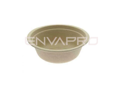 BOWL CAÑA DE AZUCAR COLOR KRAFT 500 ml