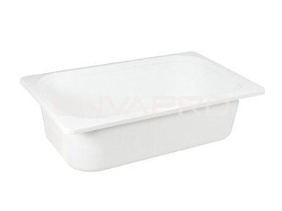 ENVASE PP MEDIO GASTRONORME BLANCO 101oz 3000ml 320 x 260 x 50mm