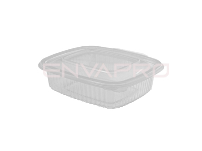 TARRINA PP RECTANGULAR TAPA BISAGRA 250ml