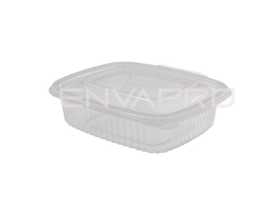 TARRINA PP RECTANGULAR TAPA BISAGRA 375ml