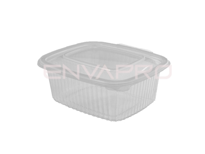 TARRINA PP RECTANGULAR TAPA BISAGRA 500ml