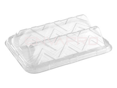 TAPA BANDEJA RECTANGULAR PET SANDWICH 350 x 240 x 80mm