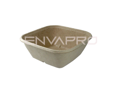 ENVASE BOWL CUADRADO NATURAL 170 x 170 x60mm 1000ml.