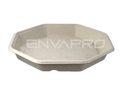 ENVASE OCTOGONAL BEPULP COMPOSTABLE 230mm