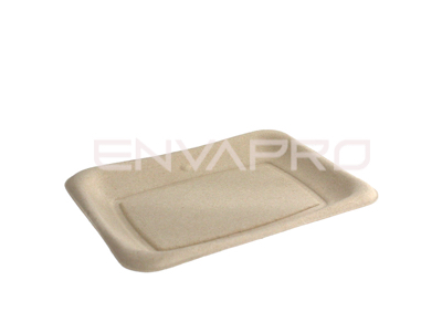 BANDEJA RECTANGULAR BEPULP 200 x 140 mm