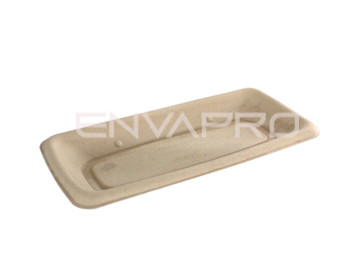 BANDEJA RECTANGULAR BEPULP 240 x 110 mm