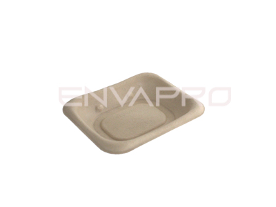 BANDEJA RECTANGULAR BEPULP 140 x 110 mm