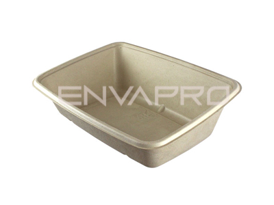 ENVASE RECTANGULAR INCLINADO BEPULP 950ml 165 x 230 x 70mm