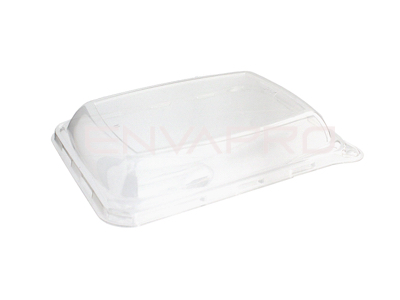 TAPA PET PARA BANDEJA RECTANGULAR  200 x 140 mm