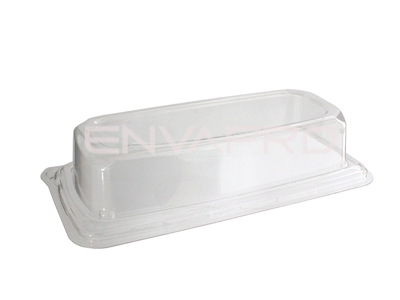TAPA PET PARA BANDEJA RECTANGULAR 240 x 110 mm