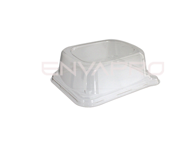 TAPA PET PARA BANDEJA RECTANGULAR  140 x 110 mm
