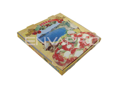 CAJA PIZZA DECORADA 260 x 260 x 35mm