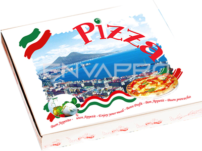 CAJA PIZZA DECORADA BUON APPETITO 500 x 500 x 50mm
