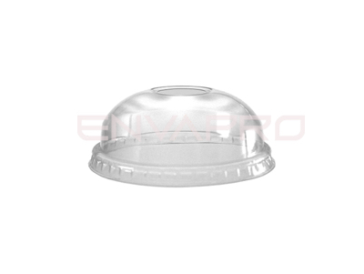 TAPA CÚPULA SIN AGUJERO PARA VASO PET LIGHT 9, 12 Y 16 OZ