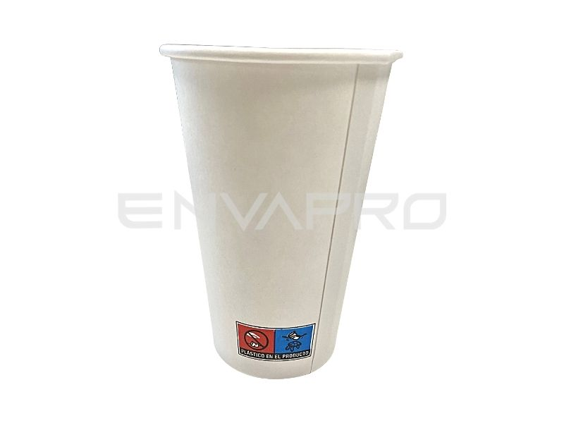 VASO CARTON BLANCO ALTO 12 OZ BOCA 80 MM