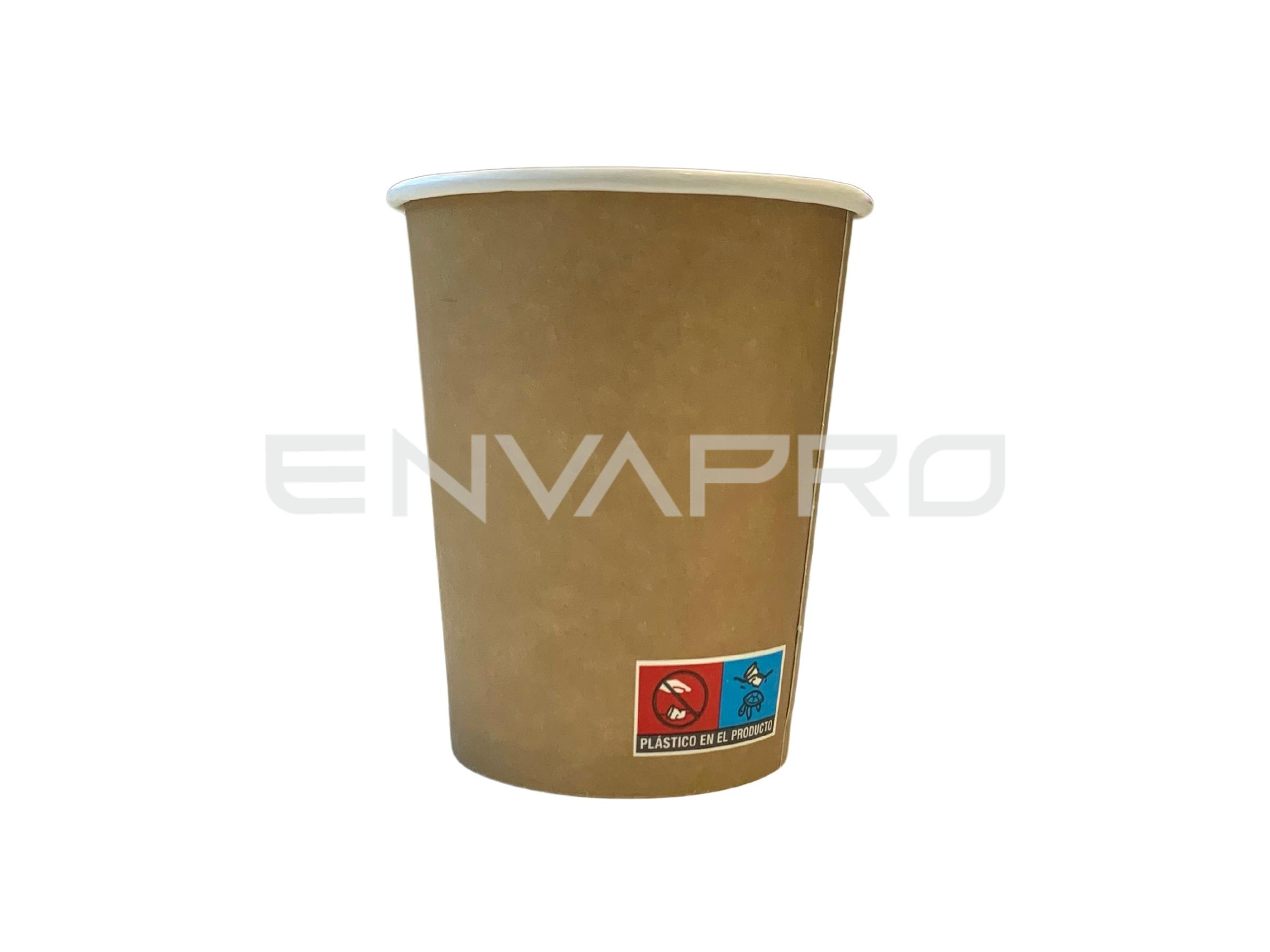 VASO CARTÓN PARED GRUESA EFECTO KRAFT 12oz 355ml