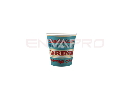VASO CARTÓN HAPPY ALTO GRAMAJE 4 oz. 126 ml.