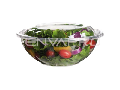 BOWL ENSALADERA PLA BIODEGRADABLE MAS TAPA 24 OZ 710 ML