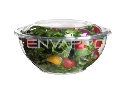 BOWL ENSALADERA PLA BIODEGRADABLE MAS TAPA 32 OZ 940 ML