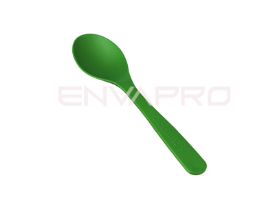 CUCHARILLA  POSTRE VERDE BIOCOMPOSTABLE ECOPRODUCT 115 mm