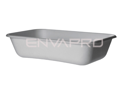 ENVASE RECTANGULAR CAÑA AZUCAR BLANCO ECOPRODUCT 940ml