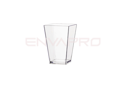 VASO CUADRADO PARA CATAS TRANSPARENTE 100ml