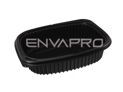 ENVASE RECTANGULAR NEGRO 1000 ML