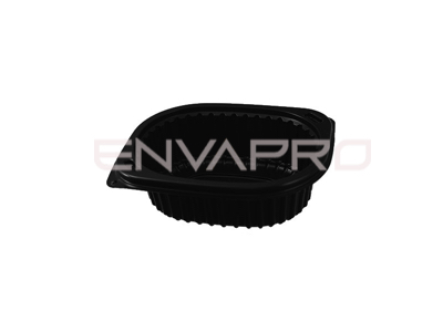 ENVASE RECTANGULAR NEGRO 350 ML