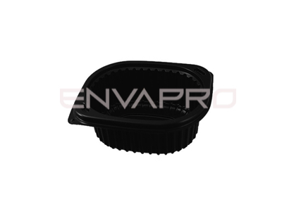 ENVASE RECTANGULAR NEGRO 450 ML