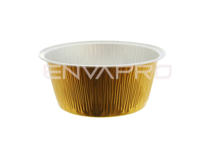 FLANERA ALUMINIO ORO 4oz 130ml 85Ø62Ø36mm