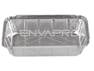 ENVASE ALUMINIO RECTANGULAR 31oz 890ml 22/15.8 x 17.4/11.1 x 3.6cm