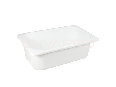 ENVASE PP GN3 GASTRONORME BLANCO 20oz 600ml 164 x 118 x 50mm