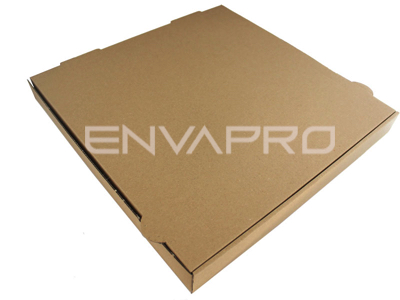 CAJA PIZZA BLANCO REVERSIBLE A KRAFT 400 x 400 x 40 mm