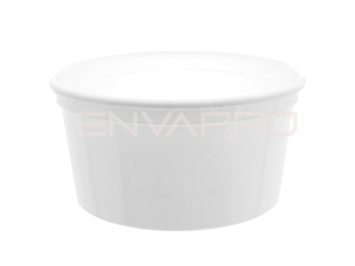 TARRINA BLANCA INYECCIÓN PP 17oz 500ml  59 x 116mm