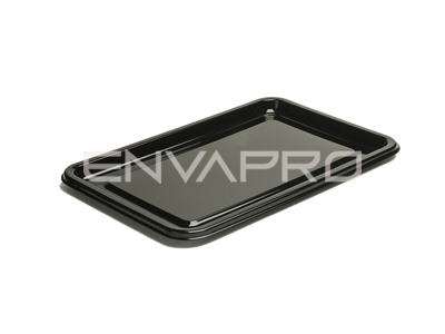 PLATO RECTANGULAR CATERING PET NEGRO 360 x 240mm