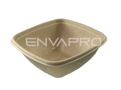 ENVASE BOWL CUADRADO BEPULP 750 ml 170 x 170 x 50 mm