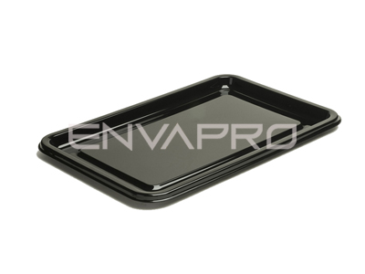 PLATO RECTANGULAR CATERING PET NEGRO 460 x 300mm