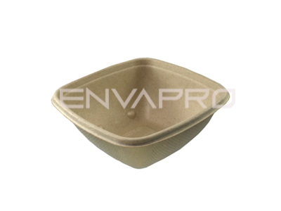 ENVASE BOWL CUADRADO BEPULP 375 ml 130 x 130 x 50 mm