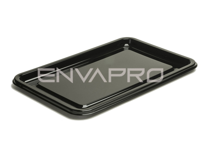 PLATO RECTANGULAR CATERING PET NEGRO 550 x 370mm