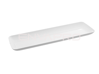 MINI PLATO PS RECTANGULAR BLANCO 190 x 65mm