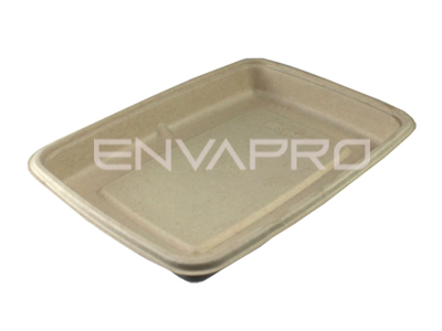 ENVASE RECTANGULAR BEPULP  230 x 170 x 28 DE 600 ml