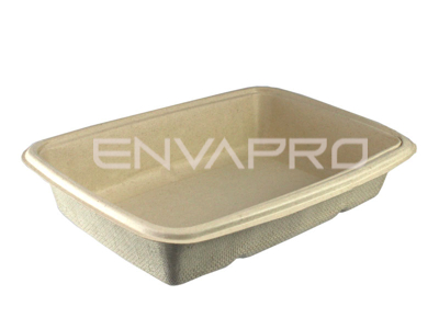 ENVASE RECTANGULAR BEPULP 230 x 170 x 48 DE 950 ml