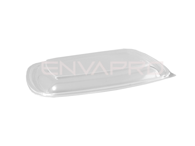 TAPA ENVASE PP RECTANGULAR NEGRO 900ml