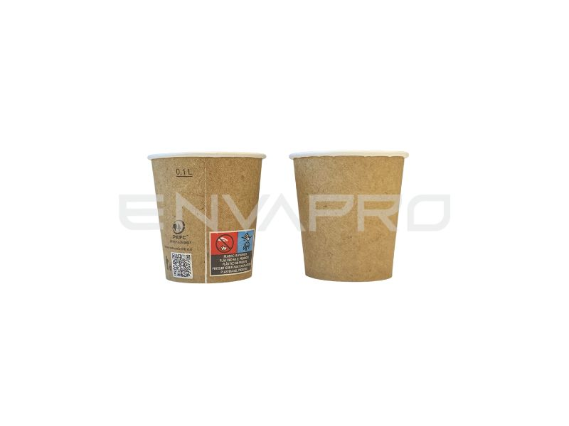 VASO CARTÓN PARED GRUESA EFECTO KRAFT 4oz 126ml